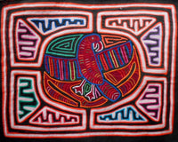 Kuna Indian Hand-Stitch Magnificent Parrot MoIa-Panama 20100402mm