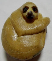 Wounaan Embera Three-Toed Sloth Tagua Nut Carving-Panama 20021026mm