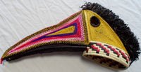 Wounaan Indian Woven Magnificent Toucan Bird Mask-Panama 20021101mm