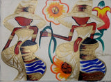 Haitian Pretty Lady Scene Painting-Panama 20021305mm