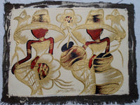 Haitian Pretty Lady Scene Painting-Panama 20021306mm
