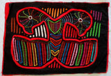Kuna Indian Hand-Stitched Coy Lovebirds MoIa-Panama 20021406mm
