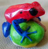Wounaan Embera Poison Dart Frog Tagua Nut Carving-Panama 20050310mm