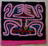 Kuna Indian Hand-Stitched Optical Illusion MoIa-Panama 20050320mm