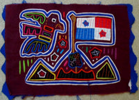 Kuna Indian Hand-Stitched Patriotic Flag MoIa-Panama 20050326mm