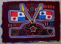 Kuna Indian Hand-Stitched Patriotic Flag MoIa-Panama 20050327mm