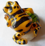 Wounaan Embera Tagua Nut Poison Dart Frog Carving-Panama 20102112mm