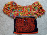 Kuna Indian Hand-Stitched Mola Blouse-Panama 20050505mm