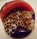 Wounaan Clemson Tiger Tagua Nut Carving-Panama 20102239mm
