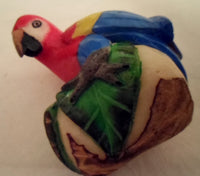 Wounaan Macaw Parrot Tagua Nut Carving-Panama 20102231mm
