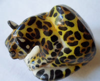 Wounaan Embera Jaguar Cat Tagua Nut Carving-Panama 20102509mm