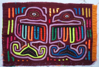 Kuna Indian Hand-Stitch Loose Goose MoIa-Panama 20111008mm
