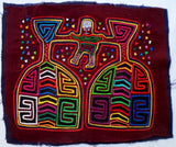 Kuna Indian Hand-Stitch Two-Fisted Drinker MoIa-Panama 20111817mm
