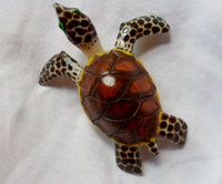 Wounaan Large Tagua Nut Sea Turtle Carving-Panama 20051515mm