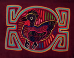 Kuna Indian Hand-Stitch Rooster MoIa-Panama 20112412mm