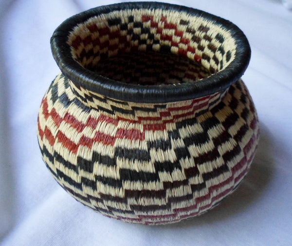 Wounaan Embera Woven Spirel Basket-Panama 20052210mm