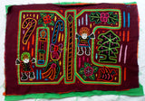 Kuna Indian Hand-Stitched Christmas Theme Mola-Panama 20052220mm