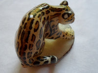 Wounaan Embera Jaguar Cat Tagua Nut Carving-Panama 20052315mm