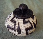 Wounaan Embera Woven Classic Design Basket w/ Top-Panama 20120212mm