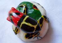 Wounaan Embera Poison Dart Frog Tagua Nut Carving-Panama 20052320mm