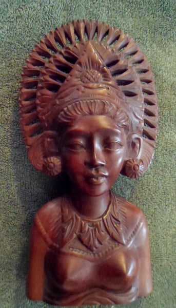 Wood Hand-Carved Indonesian Beautiful Woman-Indonesia 20120327mm
