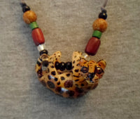 Wounaan Jaguar Cat Tagua Nut Pendant Carving-Panama 20052809mm