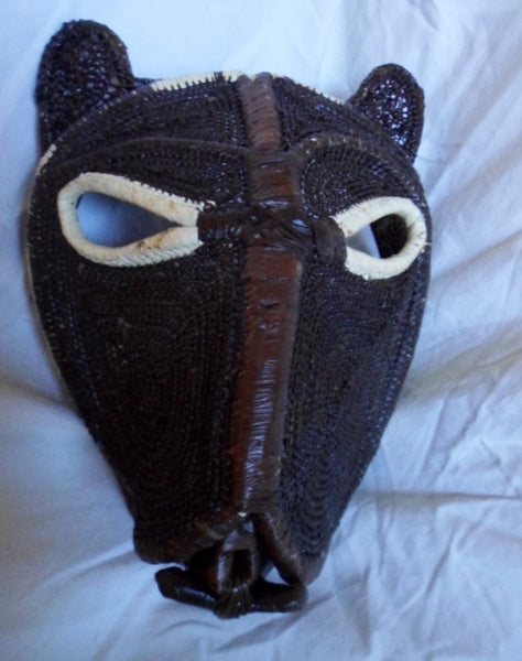 Wounaan Indian Woven Chunga Jungle Critter Mask-Panama 20121917mm
