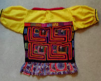 Kuna Indian Hand-Stitched Mola Blouse-Panama 20052904mm