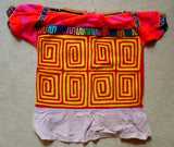 Kuna Indian Hand-Stitched Mola Blouse-Panama 20052910m