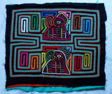 Kuna Indian Hand-Stitched Parrot Bird MoIa II-Panama 20060306mm