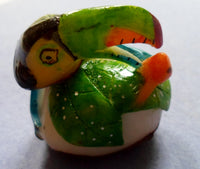 Wounaan Embera Toucan Parrot Bird Tagua Nut Carving-Panama 20060408mm