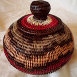 Wounaan Embera Woven Classic Design Basket w/ Top-Panama 21010845mm