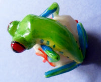 Wounaan Embera Green Tree Frog Tagua Nut Carving-Panama 20060402mm