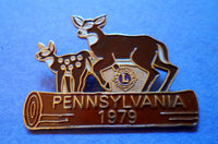 Lions Organization 1979 Pennsylvania Pin w/ Deer 20060801mm