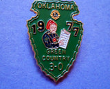 Lions Pin 1977 Oklahoma Green County 3-0   20060804mm