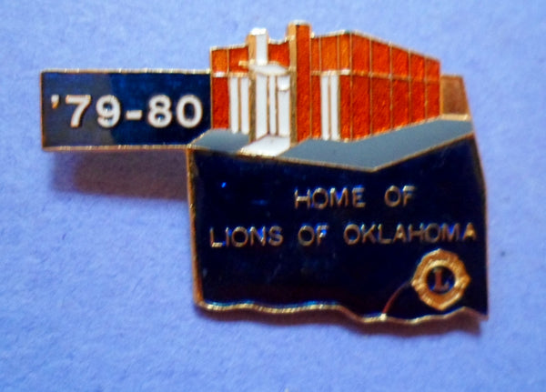 Lions Pin 1979-80 Home of the Lions Oklahoma-20060807mm