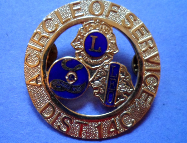 Lions Pin Circle of Service District 14-C Leo the Lion-20060810mm