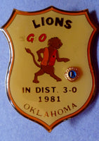 Lions Pin 1981 District 3-0 Oklahoma-20060811mm