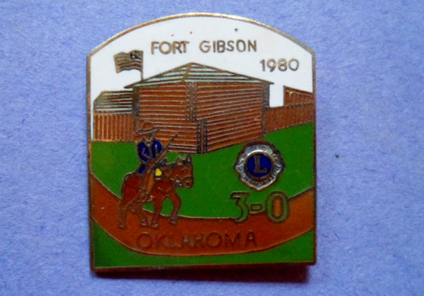 Lions Pin Oklahoma 1980 Fort Gibson 20060822mm