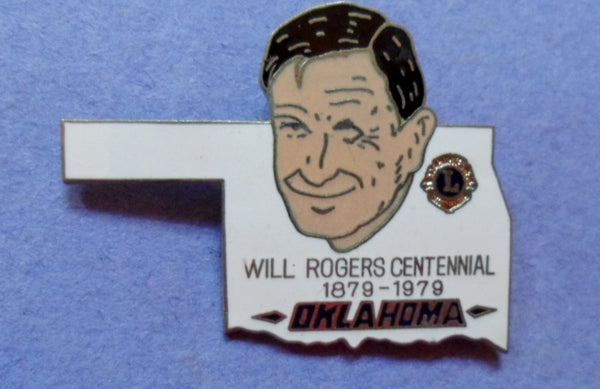 Lions Club 1978-1978 Will Rogers Oklahoma Pin  20061607mm