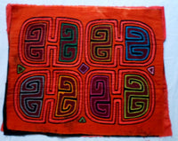 Kuna Indian Hand-Stitched Big Orange Bargain MoIa-Panama 20060916mm