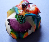 Wounaan Embera Hummingbird Tagua Nut Carving-Panama 20061210mm