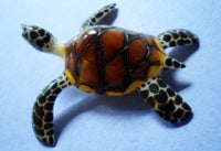 Wounaan Embera Large Sea Turtle Tagua Nut Carving-Panama 20061211mm