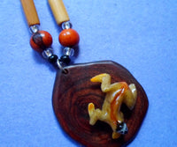 Wounaan Necklace Sloth Tagua Nut Pendant Carving-Panama 20061214mm