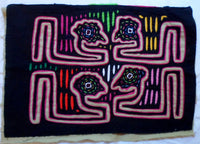 Kuna Indian Hand-Stitched Loch Ness Monster MoIa II-Panama 20062308mm