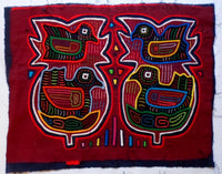 Kuna Indian Hand-Stitched Four Bird MoIa-Panama 20062414mm