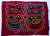 Kuna Indian Hand-Stitched Four Bird MoIa II-Panama 20062415mm