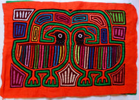 Kuna Indian Hand-Stitched Optical Illusion MoIa-Panama 20062420mm