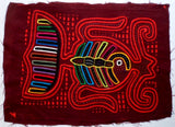 Kuna Indian Hand-Stitched Every Which Way MoIa-Panama 20062518mm