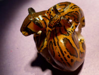 Wounaan Embera Jaguar w/ Cub Tagua Nut Carving-Panama 20062610mm